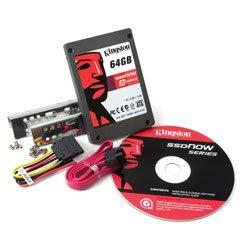 Kingston 64GB SSDNow V Series Drive, Desktop Bundle - SNV125-S2BD/64GB