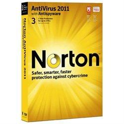 Norton� AntiVirus 2011 1 User / 3 PCs - 21069978 retail sealed CD & code only