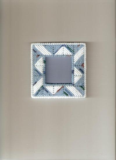 4 x 4 Handmade Plastic Canvas Photo Frame Magnet (2)