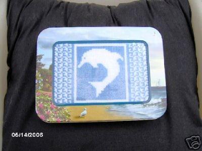 'Dolphin' Finished, Framed (in Keepsake Tin) X Stitch