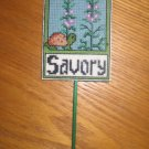 'SAVORY' Plant Poke-Plastic Canvas-Completed XStitch