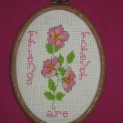 'Friends are Forever' Pansies in Pink-Cross Stitch
