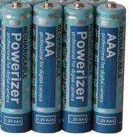 4 AAA NiMH Rechargable 850 MaH Batteries