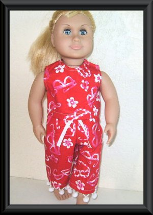 New Doll Clothing - Summer Things Capri Set for American Girl Doll