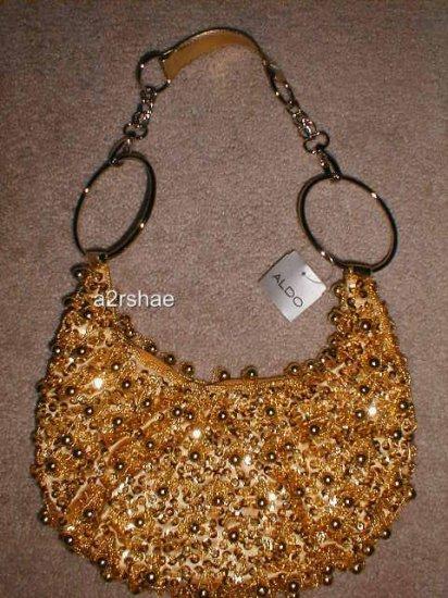 NEW authentic ALDO gold bag