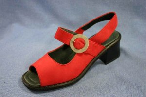 ROHDE CALIFORNIA RED  MARY JANE SLING SANDALS 8 M NEW