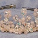 Felicity Couture Tiara in Rose Quartz by Elizabeth Claire