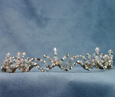 Aubrey Platinum and Crystal Tiara by Elizabeth Claire