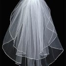 Corded Edge Waist Length  2 Tier Veil