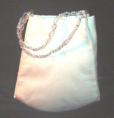 Lynn Litwin Silk Bag w/ Swarovski Crystal Handles