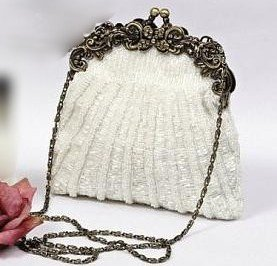 Vintage Elegance Framed Beaded Evening Bag