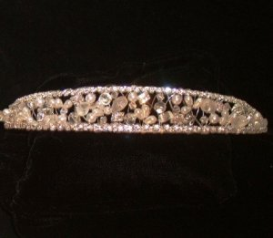 Winters Frost Tiara in Silver and Frosted Crystals