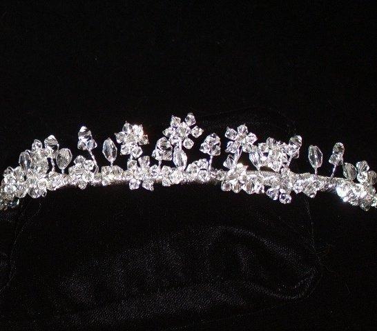 Floating Flowers Swarovski Crystal Tiara in custom colors