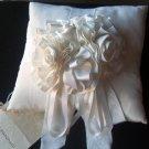 Kay Bingham Classic  White Moire Bridal Pillow