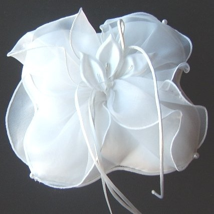 Calla Creations Organza & Satin Ringbearer Pillow