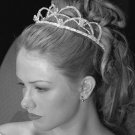 Kristina Eaton 2 Tier Pearl & Crystal Tiara w/ Lt. Blue Crystal Accents
