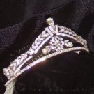 Emerald Cut Elegance Tiara  in rhodium, crystal & pearl by Regina B