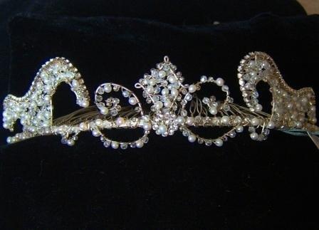 Medieval inspired Tatiana Tiara Comb by Renee Romano