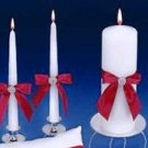 Splendid Unity Candle Set with Brooch in Red Allure and 46 more colors