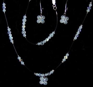 Moonstruck  3 Piece Jewelry Set in Moonstone & Aurora Borealis by Elizabeth Claire