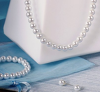 American Classic Pearl 3 Piece Set in White with Silver
