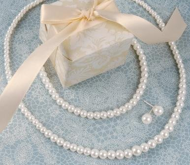 Graduated 3 Piece Pearl Jewelry Set