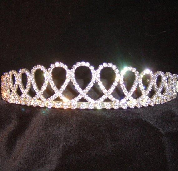 Laila Looped Clear Crystal Tiara