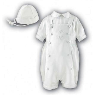 Sarah Louise Boys Christening  3 Piece Outfit  with Embroidered Cross