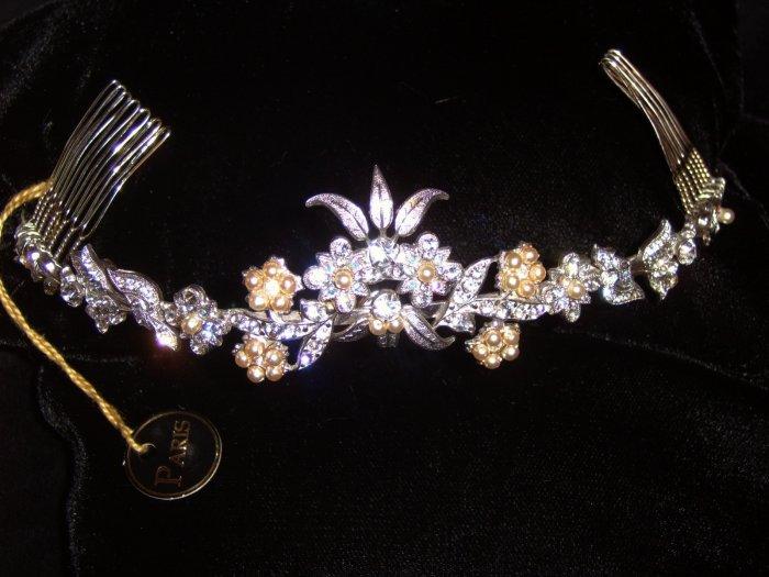 Matador's Wife by Debra Moreland for Paris in Rhodium, Pearls & Crystals