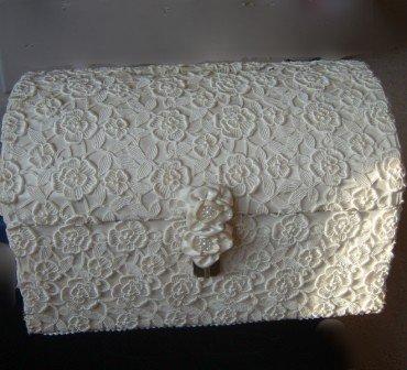 Venise Lace Candelite Card Holder/ Keepsake Trunk