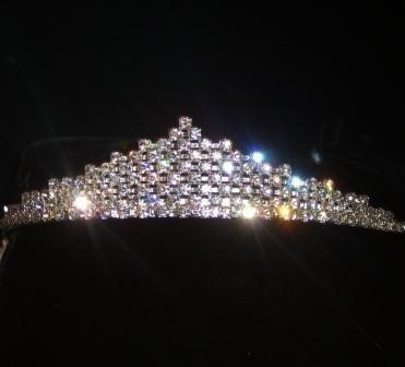 Stacked Diamonds Swarovski Crystal Tiara set in Silver