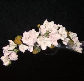 Fleur handcrafted Porcelain Rose Tiara Comb by Kristina Eaton