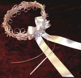 Custom Designed Satin Ribbon and Roses Flowergirl Wreath