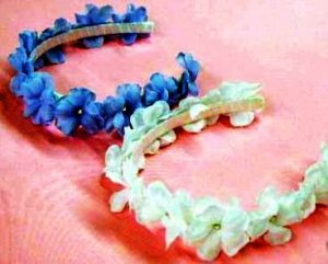 Custom Made Delicate Flowers with Crystal Headband for Girls in over 25 colors