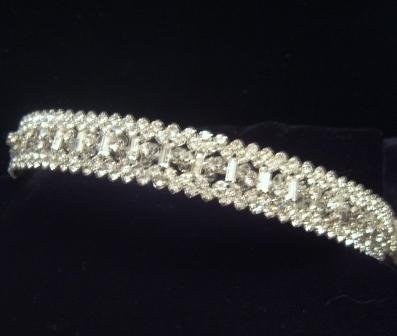 The Blair Tiara of Baguettes and Brilliant Cut Swarovski Crystals