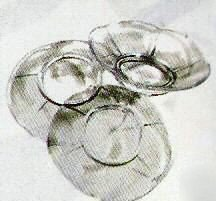 Package of 50 Clear Plastic Favor Saucers