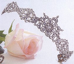 Princess Tiara by Thomas Knoell in Silver with Clear Swarovski Crystals