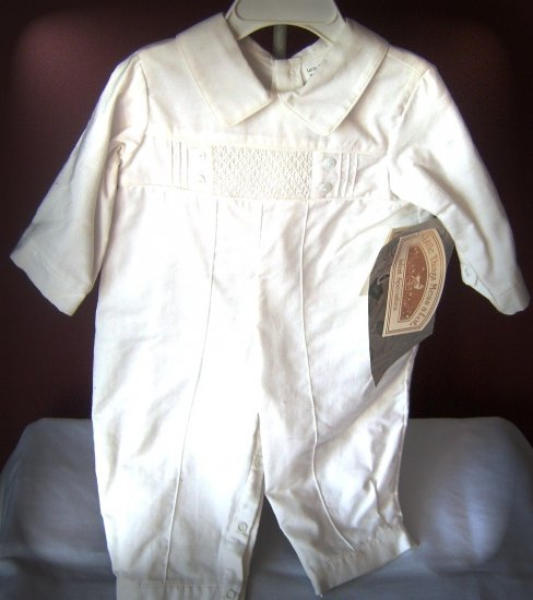 Little Things Mean Alot White Cotton Longall with Smocked detailed front