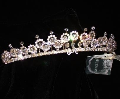 Sabrina Tiara by Renee Romano in Clear Swarovski Crystal