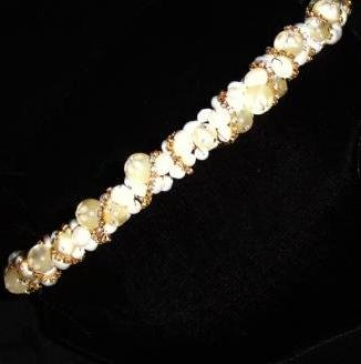 Fallon Freshwater Pearl, Crystal and Rhinestone Band