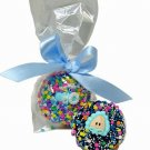 1 Dozen Baby  Boy Theme Chocolate Dipped Oreos, Individually wrapped.