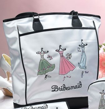 Bridesmaid Tote Bag with Bonus Stretch Terry Slippers & Peppermint Foot Soak