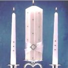 """Diamonds"" 3 piece Unity Candle Set Gift Boxed with Free Shipping"