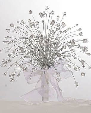 Custom Crystal  & Pearl Waterfall Bouquet in your choice of color or color combination