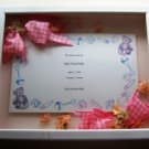 Custom Shadowbox Framed Baby Announcement