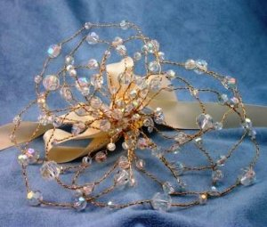 Crystal Flower Bouquet by Elizabeth Claire