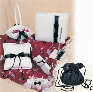 Black & White Wedding Collection by Simply Charming with bonus matching toss garter