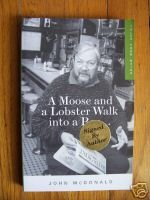 Moose and Lobster Walk into a Bar John McDonald Signed