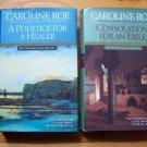 Lot of 2 Caroline Roe HB DJ 1st Medieval Mysteries