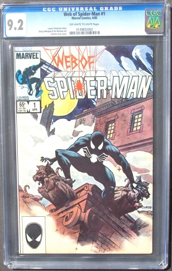 WEB OF SPIDER-MAN #1 9.2 NEAR MINT-.